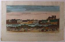 Paris Seine Notre-Dame vue d'optique XVIIIème siècle