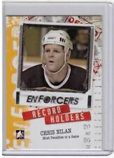 CHRIS NILAN 10/11 ITG Enforcers Record Holders Most Penalties In A Game #25