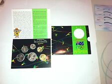 1992  UNC 6 Coin Set. Feature New $1 Barcelona Olympic Games Coin..