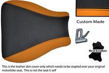 ORANGE & BLACK CUSTOM FITS SUZUKI GSXR 600 750 01-03 FRONT SEAT COVER