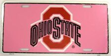 OHIO STATE BUCKEYES LICENSE PLATE PINK LADY BUCKS L612