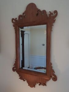 Handcrafted Cherry Classic Chippendale Mirror