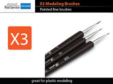 X3 Modeling Brush Pointed Craft Tool Plastic Model Figure Paint fine fit tamiya