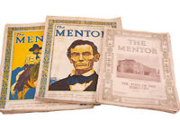 Lot of The Mentor Magazine July 1927 Feb 1916 Sept 1916 March 1929 Abe Lincoln