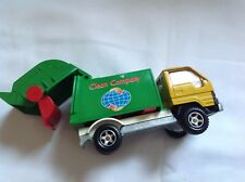 Vintage MAJORETTE Toyota  Clean Company Garbage Truck Green Truck Scale 1/55