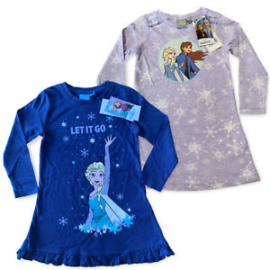 Girls Disney Frozen 2 Elsa Anna Nightdress Nightie Nighty Pyjamas Age 3 - 8 Year