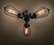 3 Lights Vintage Industrial Ceiling Light-kitchen ceiling fixture- dining room