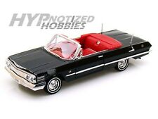 WELLY 1:24 1963 CHEVY IMPALA SS CONV. DIE-CAST BLACK 22434