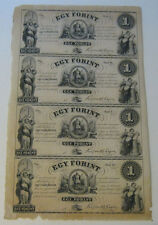 New 0000041A  listing Egy Forint - Sheet of (4) One Forint Notes (Circa 1852)