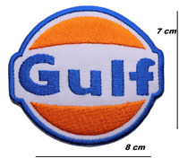 GULF OIL MOTOR CAR PATCHES EMBROIDERED IRON OR SEW ON BADGES LOGO