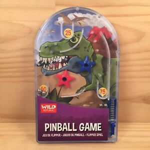 "WILD REPUBLIC ""Dinosaur Jungle"" Awesome Little Pin Ball Toy Kids Handheld Game"