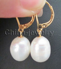 E7870 - 14mm natural white baroque freshwater pearl earring - 14k gold filled