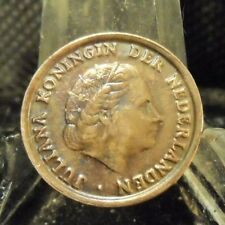CIRCULATED 1954 1 CENT NETHERLANDS COIN (20319)1.....FREE DOMESTIC SHIPPING