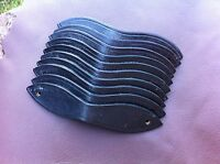 5 pairs of shaped leather browband end loops, for making chain browbands etc.