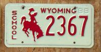 """Original Wyoming 88 """"School"""" US Nummernschild"""