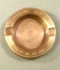 Vtg Brass Ashtray Madison Wisconsin WI The Chocolate Shop Home of the Hot Fudge!