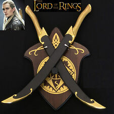 LOTR/TheHobbit Legolas Elven Double Swords with Scabbard and Plaque- Pre Order