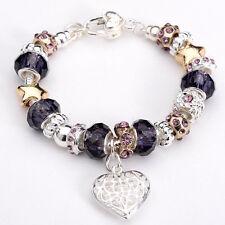 New European Murano Glass Beads&Silver Women's Charm Bracelet XB178+Box For Xmas