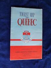 TOURIST MAP OF QUEBEC MUNICIPAL TOURIST BUREAU VICINITY GETTING ABOUT VINTAGE AD