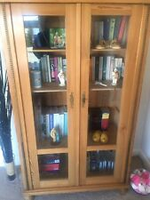 Antique Pine And Glass Display Cabinet