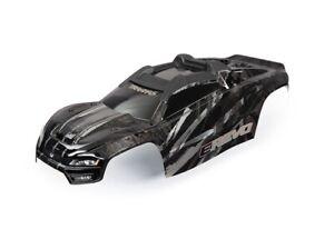 Traxxas BLACK Limited Edition E-Revo Body w/ Decals & Body Mounts ERevo New