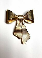 Vintage 1980 AVON goldtone bow pin brooch with flower holder Necklace
