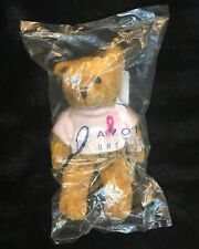 2001 Avon Breast Cancer Crusade Bear New Unopened With Tags 7� Brown Pink
