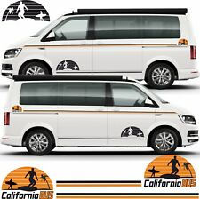 VW Transporter T6 T5 California Side Stripes Graphics Decals Stickers any colour