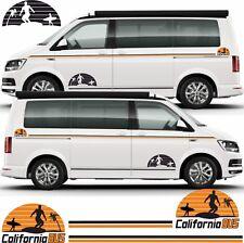 VW Transporter T6 T5 California Lato Strisce Decalcomanie Grafiche Adesivi Qualsiasi Colore