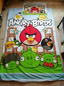 Angry Birds Single Duvet Cover And Pillowcase