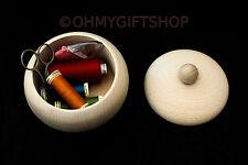 sugar bowl wooden decoupage jewellery organiser wood storage kitchen candies box