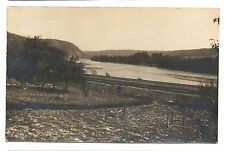 RPPC Lehigh Valley Railroad nr LACEYVILLE? PA Wyoming County Real Photo Postcard