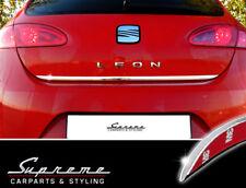 SEAT Leon 1P Chrom Zierleiste 3M Tuning Heckleiste Kantenschutz