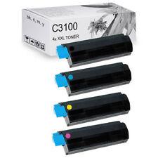 4 x XXL Toner Kartuschen OKI C3100 C3200 C5100 C5200 C5300 C5400 C5450 4er SET