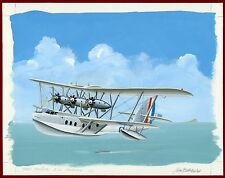 Gibraltar 2010, Original Artwork, Sea Plane, Short Rangoon, 210 Squadron