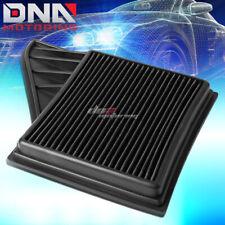 FOR 10-14 MUSTANG 3.7/5.0 BLACK REPLACEMENT RACING HI-FLOW DROP IN AIR FILTER