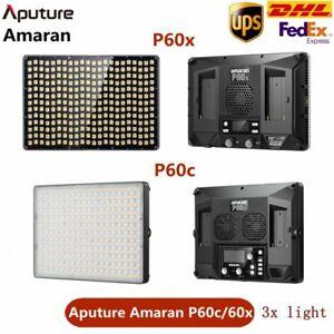 Aputure Amaran P60C P60X 3x lights kit Bi-Color RGBWW LED Video Panel Fill Light