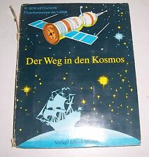 Pop up Bilderbuch W- Sewastjanow Der Weg in den Kosmos 1981 Malysch Moskau