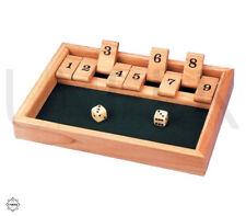 Shut The Box Classic Wooden Board Game - Bakarat, Canoga, Klackers, Kingoball