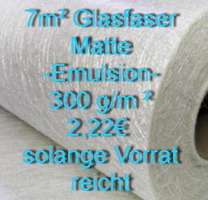 7m² Glasfasermatte 300 g/m² , VERSANDFREI!  Emulsion, Laminieren,GFK, Glasgewebe