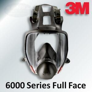 3M 6000 Full Face Reusable Respirator 6700 Small 6800 Medium 6900 Large
