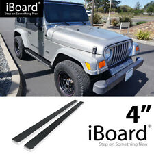 Running Board Side Step Nerf Bars 4in Silver Fit Jeep Wrangler TJ/YJ 2Dr 87-06