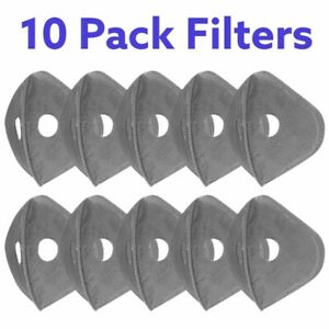 Activated Carbon Filter Cycling Air Purifying Face Mask Anti Pollution 5 Pack US