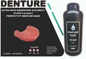 DLP SLA LCD  3d printer  denture base resin for manufacturing dentures