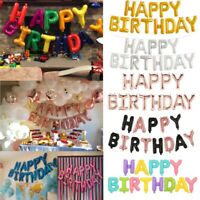 Happy Birthday Balloon Banner Bunting Self Inflating Letters Foil Balloons Party