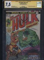 Incredible Hulk #177 CGC 7.5 SS Herb Trimpe 1974 ADAM WARLOCK