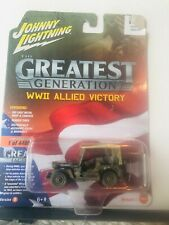 1/64 JOHNNY LIGHTNING GREATEST GENERATION WWII ALLIED VICTORY WILLYS MB JEEP