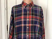 Ralph Lauren Blake Shirt Mens Size Large Long Sleeve L Blue Check Plaid