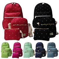 3Pcs Women Backpack Student School Shoulder Bag Rucksack Canvas Travel bags gous
