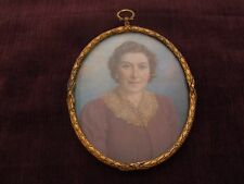 """Miniature Painting by """"Enoch Fairhurst, 1874-1945"""" amazing estate find painting"""